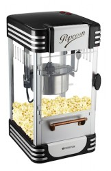 Popcornmaskine Retro Black Edt
