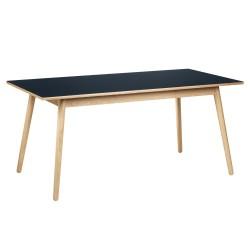 Poul M. Volther 6 pers. spisebord - C35B - Eg/blå linoleum