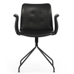 Primum stol m/arm og drej (sort)