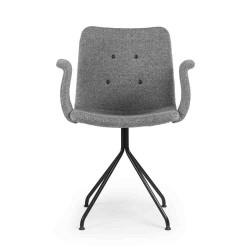 Primum stol m/arm og fast stel (grÅ)