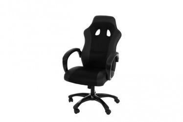 Race kontorstol - Sort læder PU og stof