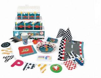 Racerløb, Biler fødselsdagssæt. 8 personer