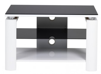 Ranger Tv-bord - Hvid m. Glasplade - B:80