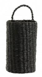 Rattankurv/Flaskeholder Sort 20cm