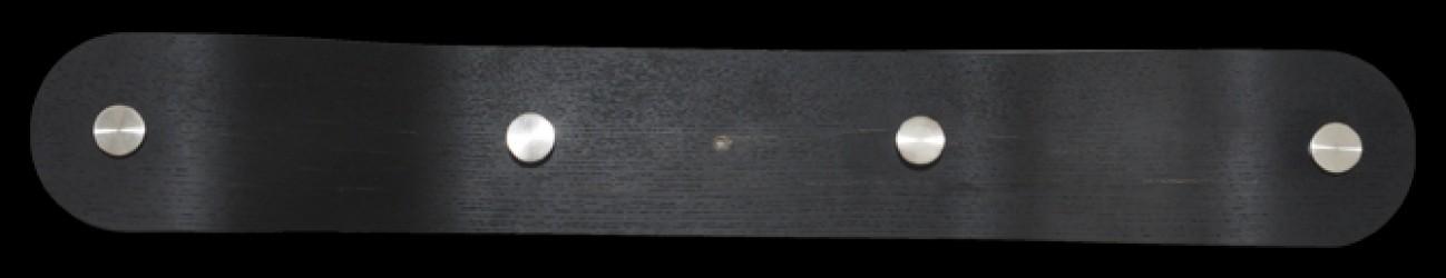 RGE Blues knagerække - sort træ, (10x70cm)