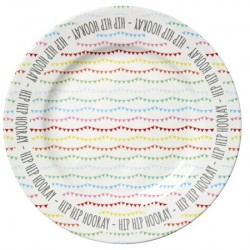 Rice Melamine Cake Platter in Happy Birthday Print