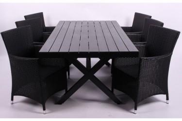 Rio sort Havemøbelsæt