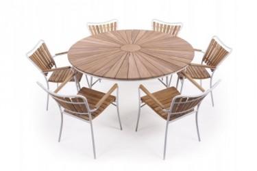 Rørvig 150 cm. Sæt med 6 stole