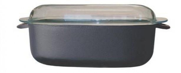 Ronneby Bruk Oval gryde 5,5 ltr, glaslåg