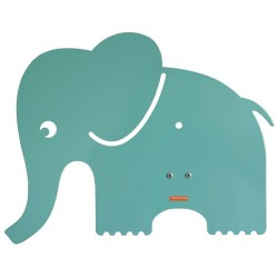 Roommate børnelampe - Elefant Silhouette - Pastel blå/grøn