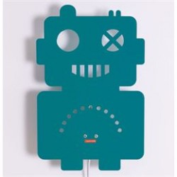 Roommate børnelampe - Robot Silhouette - Petrol