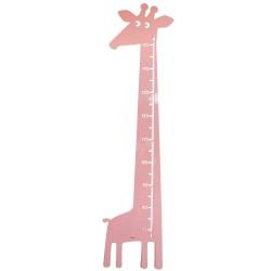 Roommate højdemåler - Giraf - Rosa