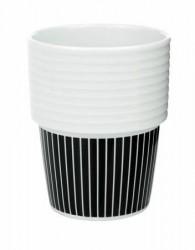 Rörstrand Filippa K Te- & kaffekrus Pinstripes/sort 2-pak