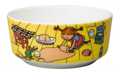 Rörstrand Pippi Langestrømpe skål 15 cm Bage på gulvet