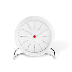 Rosendahl Arne Jacobsen Bankers bordur, hvid/hvid, Ø 11 cm, alarmfunktion