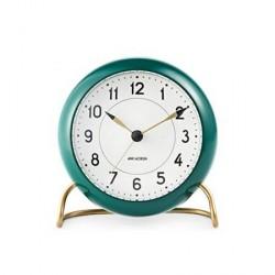 Rosendahl Arne Jacobsen Station bordur, grøn/hvid, Ø 11 cm, alarmfunktion