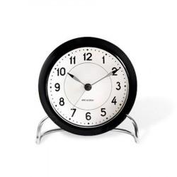 Rosendahl Arne Jacobsen Station bordur, sort/hvid, Ø 11 cm, alarmfunktion