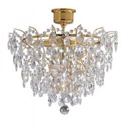 Rosendal Loftslampe 4 Lys Guld