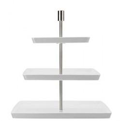 Rosenthal Loft Hvid Kagefad Kvadratiskt 3 etager