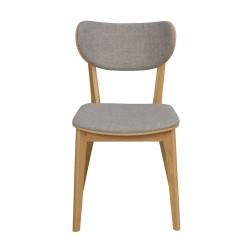 ROWICO Kato spisebordsstol - lysegrå stof og natur egetræ