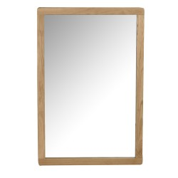 ROWICO rektangulær Metro vægspejl - spejlglas og natur eg (90x60)