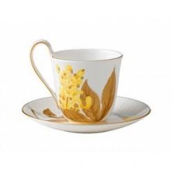 Royal Copenhagen Kaffekop med underkop Guldregn 27 cl 1 stk.