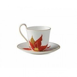 Royal Copenhagen Kaffekop med underkop Julestjerne 27 cl 1 stk.
