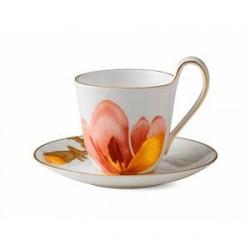 Royal Copenhagen Kaffekop med underkop Magnolia 27 cl 1 stk.