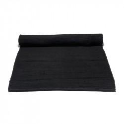 Rug Solid Black Bomuldstæppe