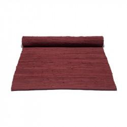Rug Solid Rosewood Red Bomuldstæppe