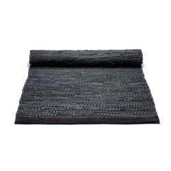 Rug Solid - sort løber 75x300 cm