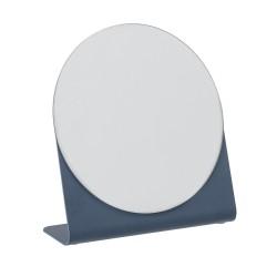 Rund spejl med blå fod