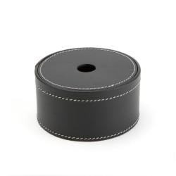 Runde læder box - small