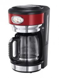 Russell Hobbs Retro Kaffebrygger Glas 10 kopper, Rød