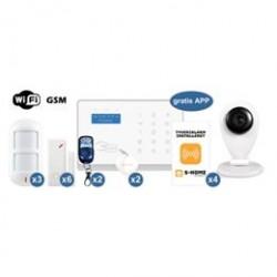S-Home alarmsystem - Wifi Deluxe alarmpakke inkl. kamera