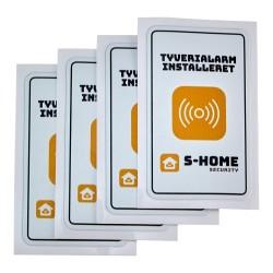 S-Home dobbeltsidet alarmklistermærker