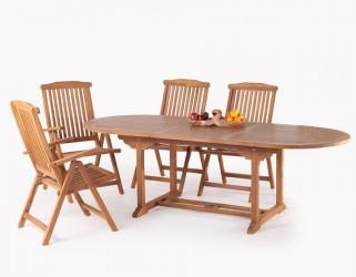Scandic Teak Malaga Havemøbelsæt