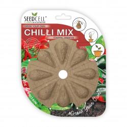 SeedCell Disk - Blandet chili 8 stk. frøkapsler