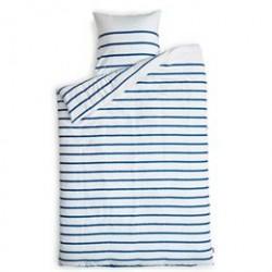 Sengetøj - REDGREEN - Hvid med blå striber