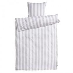 Sengetøj - REDGREEN - Hvid med grå striber