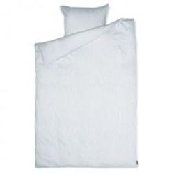 Sengetøj REDGREEN - Hvide og dueblå striber