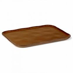 Serax Merci Rectangular Plate No. 1 XL Ocre/brown