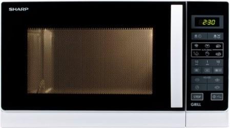 Sharp R-742WW Grill Funktion Mikroovn - Hvid