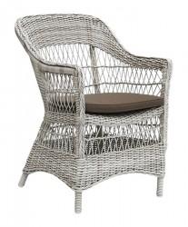 Sika-Design Charlot Kurvestol, Vintage Hvid m/hynde