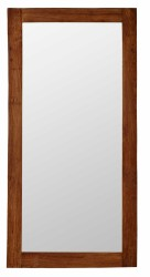 SIKA DESIGN Lucas spejl - gammelt teak ramme (90x180)