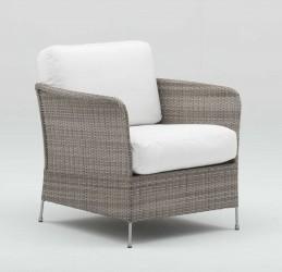 SIKA DESIGN Orion loungestol - grå artfibre inkl. hynde