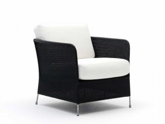 Sika Design Orion loungestol inkl. hynde - Sort