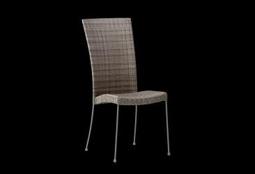 SIKA DESIGN Saturn havestol - teak/grå flettet fibre og metal