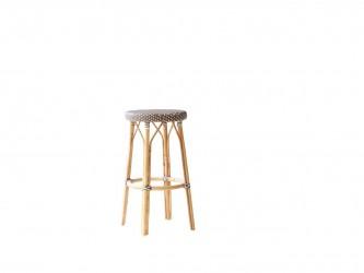 SIKA DESIGN Simone barstol - cappuccinofarvet træ (Ø 40)