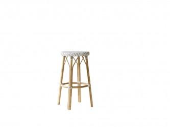 SIKA DESIGN Simone barstol - hvidt træ (Ø 40)
